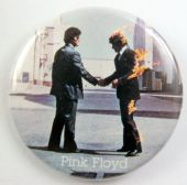 Pink Floyd - 'Wish You Were Here Handshake' Large Button Badge